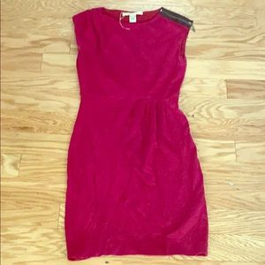 Diane von furstenberg solid pink sleeveless dress